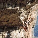 Climbing in Hallelujah caves